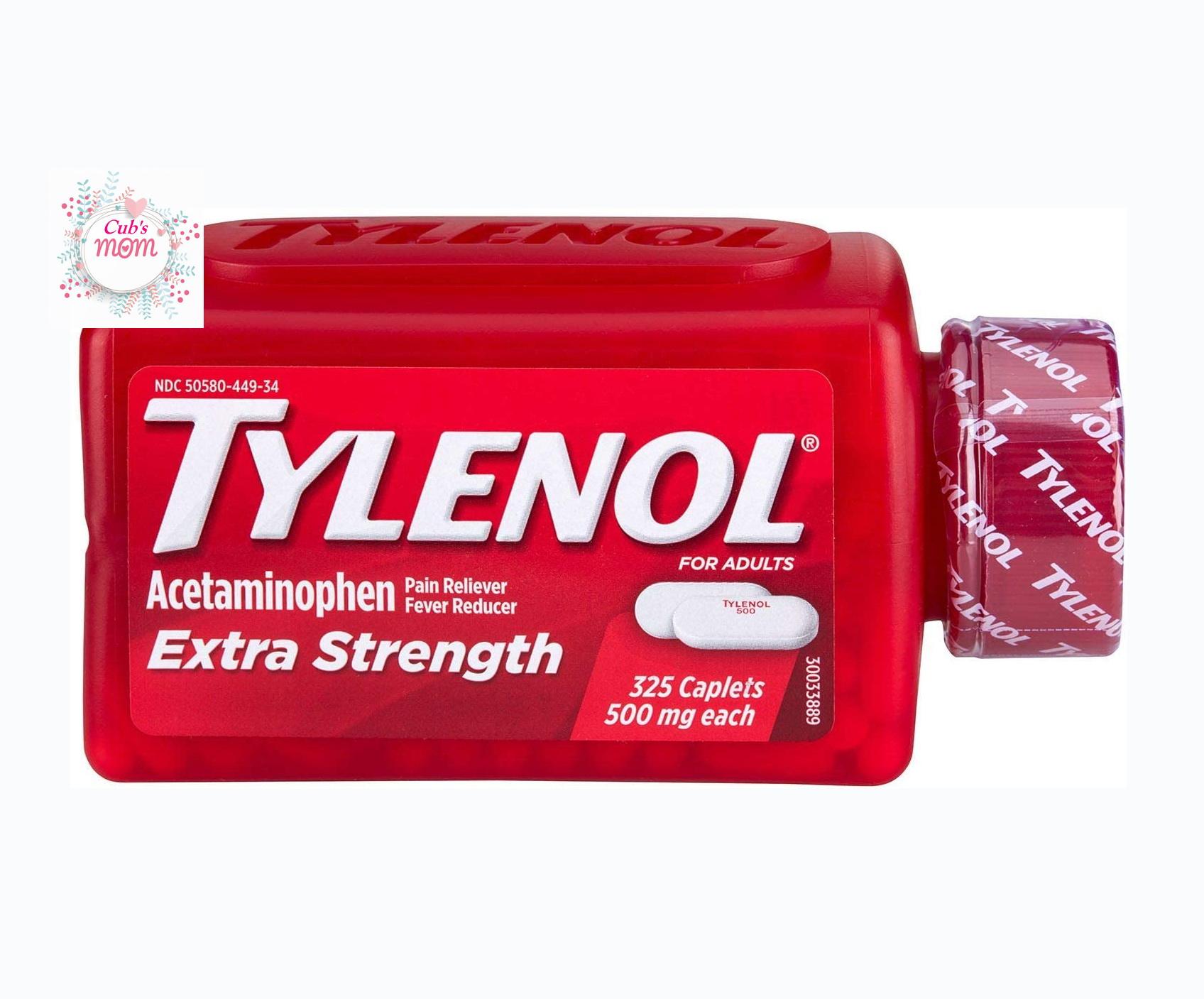 Viên uống giảm đau hạ sốt Tylenol Acetaminophen Extra Strength 500mg 325 viên của Mỹ