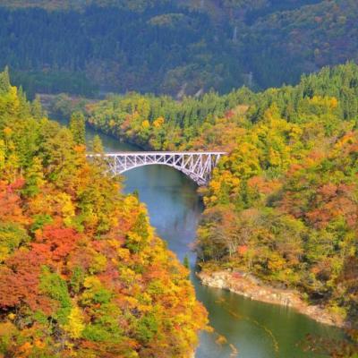 Daiichi Tadamigawa Kyoryo – cây cầu vòm nằm giữa thiên nhiên hùng vĩ Fukushima