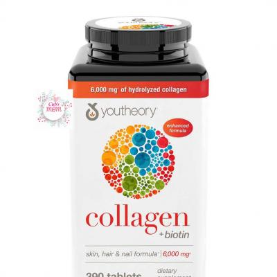 Collagen Biotin Youtheory Type 1,2&3 390 viên Mỹ
